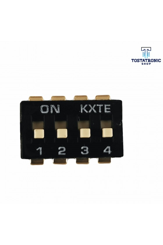 Dip switch 4 Canales Negro...